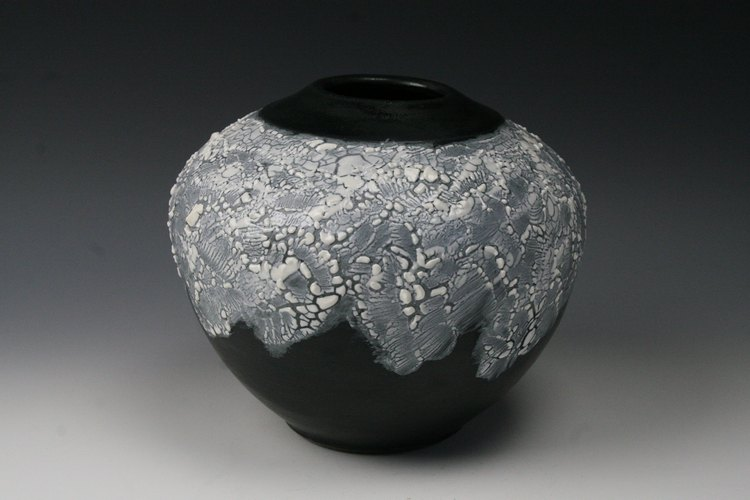 Web Black Pot by Penny Berglund