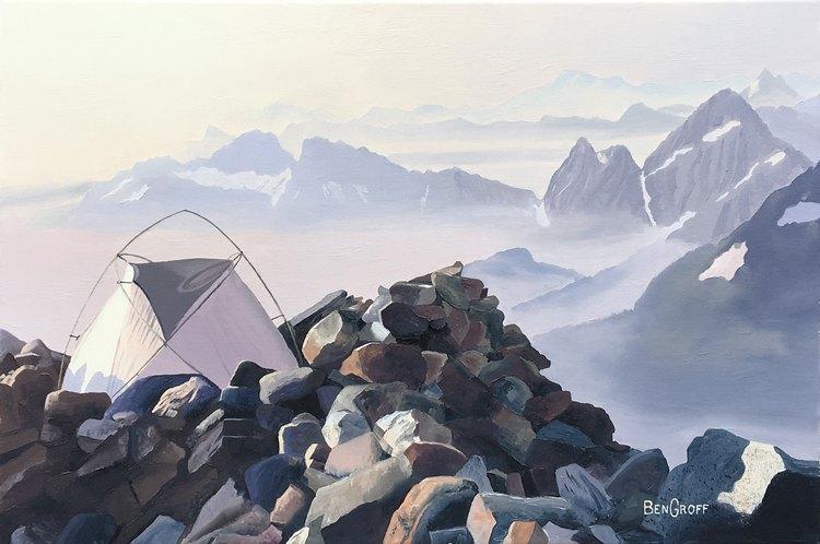 Web Camp on Sahale Moraine, by Ben Groff, $450