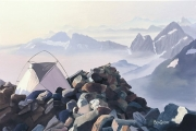 Web Camp on Sahale Moraine, by Ben Groff, $450