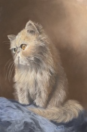 Web Purrrfect Place_Soft Pastel by Susan Swapp $700