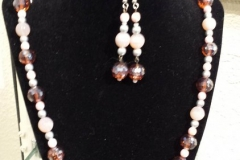 Web Necklace and Earrings by Lonni Flowers $95