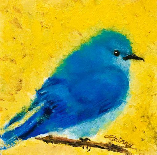 Blue Birdl by Rainny Zhao $180