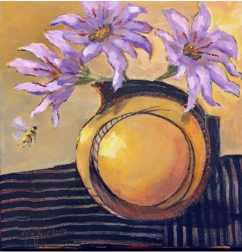 Busy Bee IV by Lyla Jacobsen $325