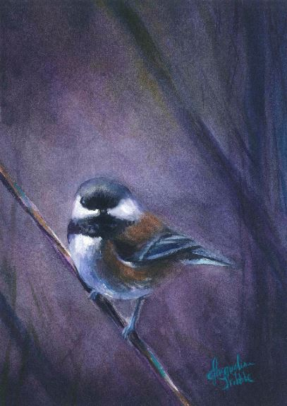 Chickadee - Right by Jacqueline Tribble $245