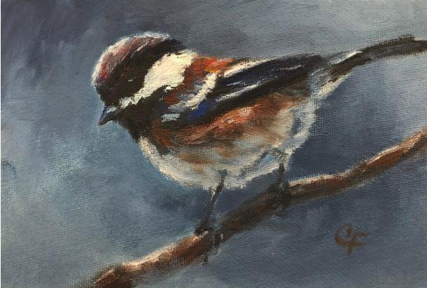 Chickadee by Christine Forcucci $110