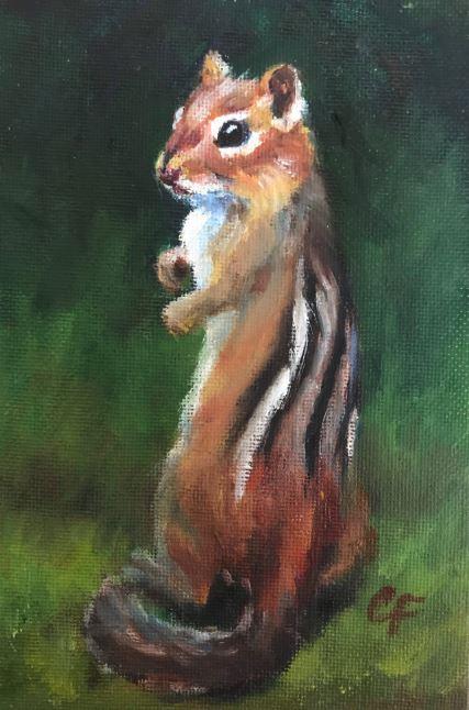 Chipmunk by Christine Forcucci $110