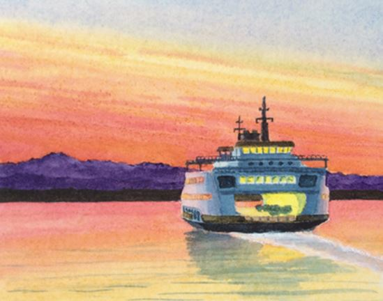 Evening on Puget Sound by Roger Baker $125
