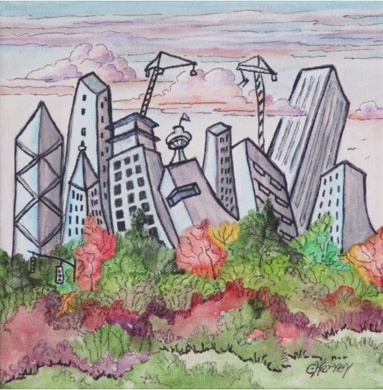 Fall in Seattle by Christina Harvey $185