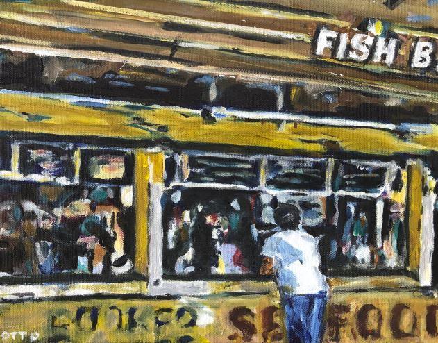 Fish Bar by Jason Otto $150