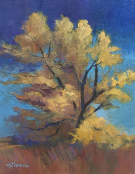 Lone Cottonwood by Sarah deLendrecie $250