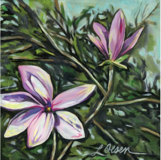 Magnolia #5 by Laurie Olsen $200
