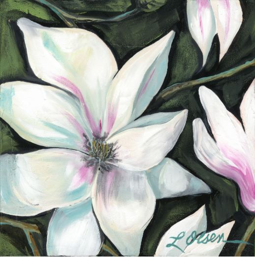 Magnolia #9 by Laurie Olsen $180