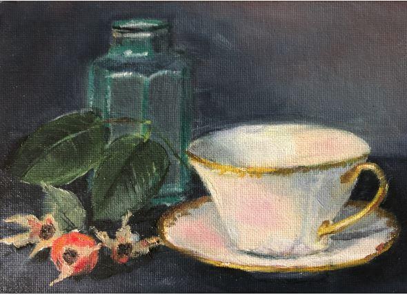 Making Rose Hip Tea by Carol Dungan $100