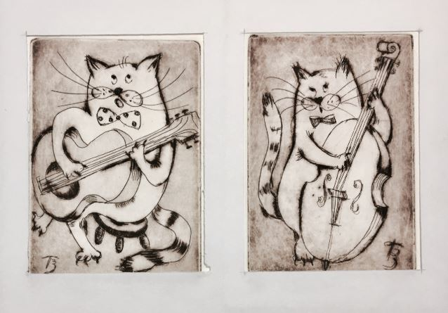 Meowsicians by Tatyana Brown $150