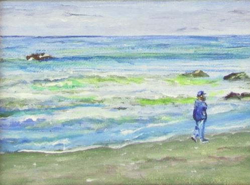 Moonstone Beach Stroll by Brent Gibb $150