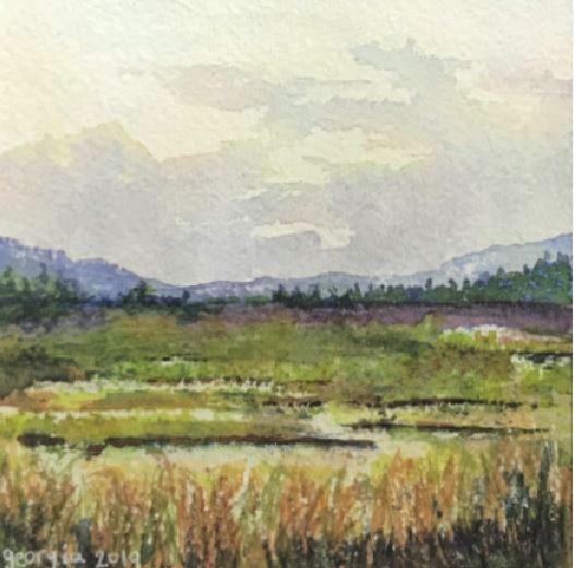 Overheard on a Salt Marsh by Georgia Schlegel $150 Sold