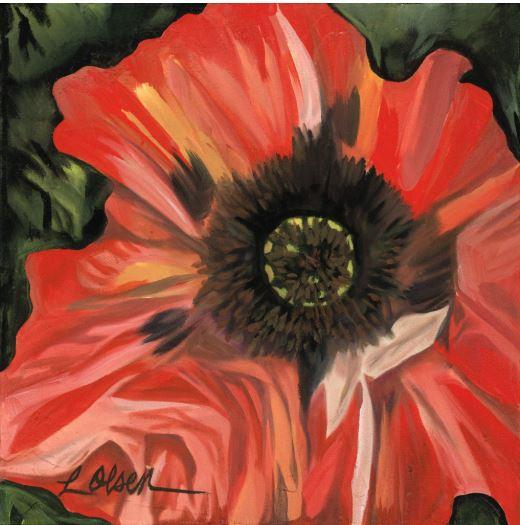 Poppy Folds by Laurie Olsen $250