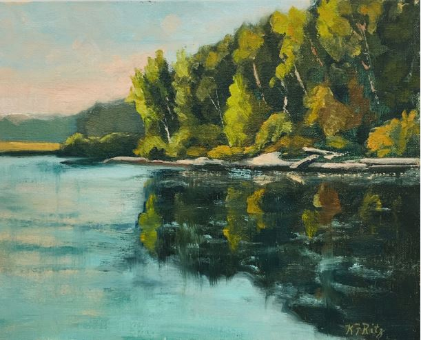 Reflecting by Kathleen Ritz $325