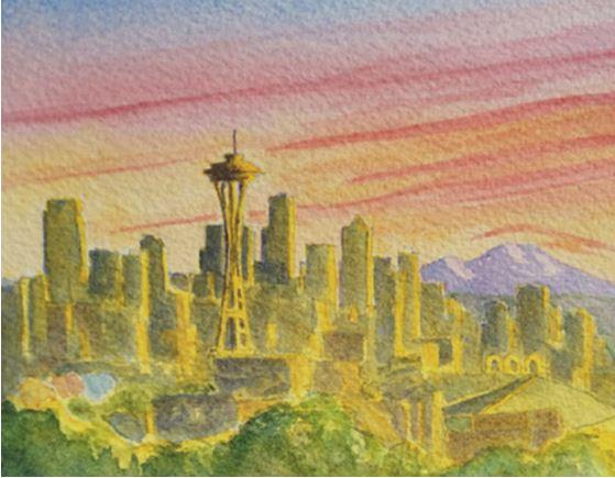 Seattle Eve by Roger Baker $105