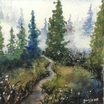 Secret Path by Georgia Schlegel $150