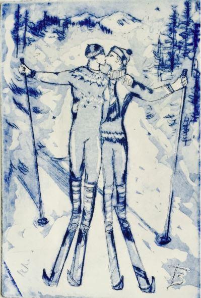 Ski Lovers by Tatyana Brown $150