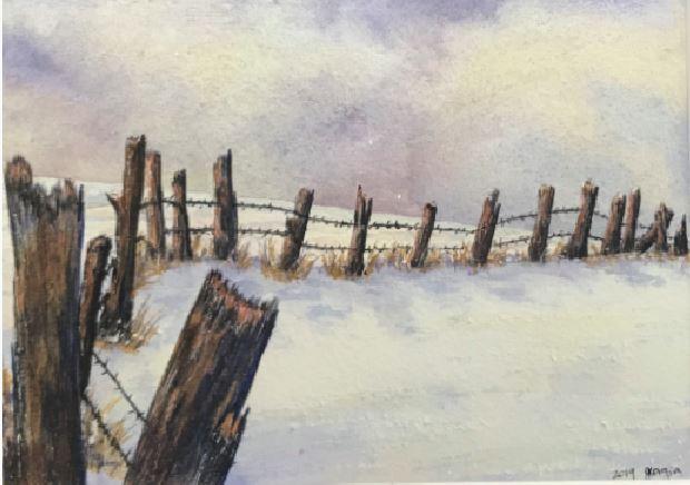 Snow Shadows by Georgia Schlegel $200