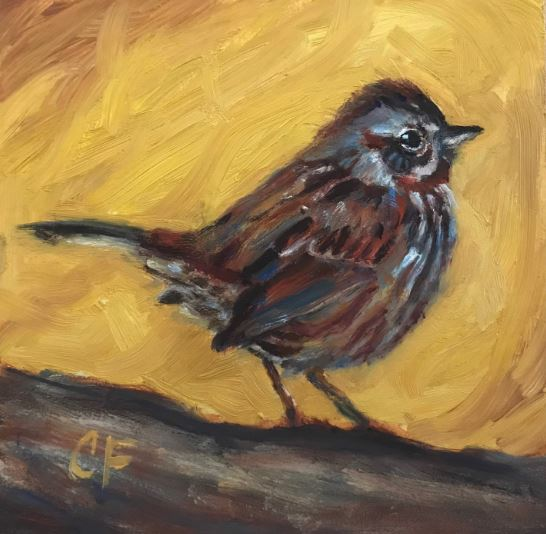 Song Sparrow by Christine Forcucci $110