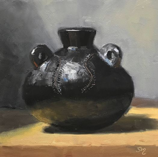 Terra-cotta in Black by Susan Mcmanamen $325