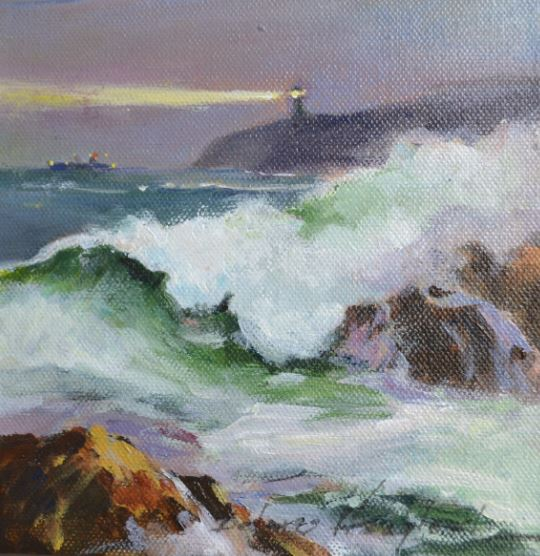The Light on the Scarp by Delores Haugland $120