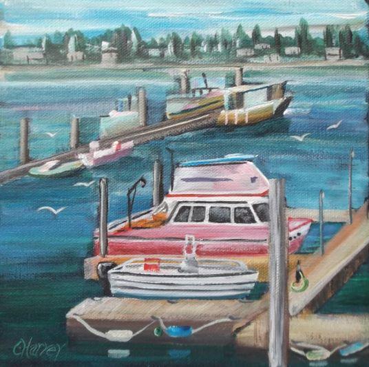 Tulalip Marina by Christina Harvey $175