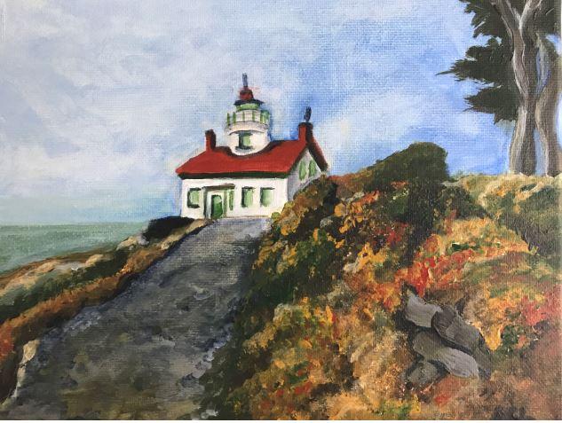 Westcoast Lighthouse by Anna Lee $150