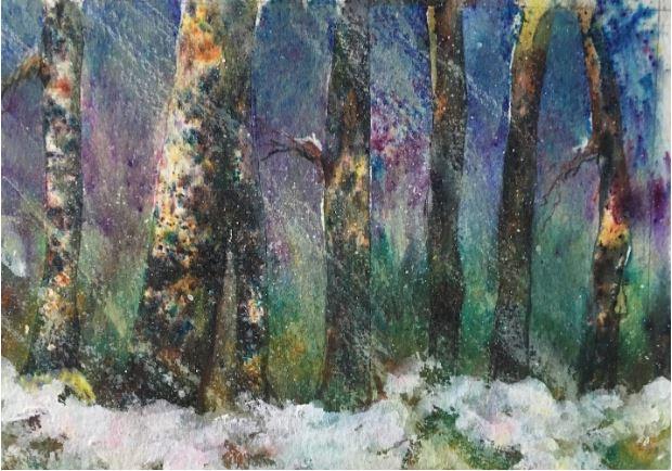 Winter Woods by Joan O'Byrne $125