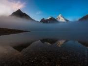 WEB Mount Assiniboine Morning Mist by Mike Reid