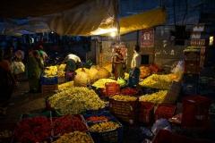 WEB Chennai Koyambedu  Flower Market Morning by Mike Reid
