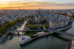 WEB Over Paris Notre Dame Cathedral  by Mike Reid