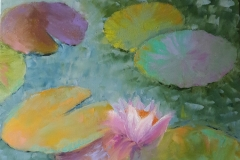 WEB Lily Pad #4 by Leah Rene Welch