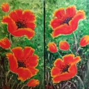WEB Red Poppies by Leanna leitzke $255 each