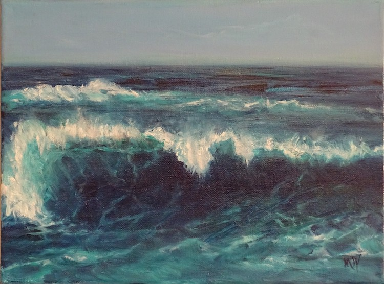 Wave Action by Melissa Wadsworth $165