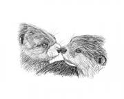 WEB An Otter Kiss by Stu Rosen $350