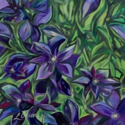 WEB Clematis by Lauries Olsen $200