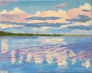 WEB Cotton Candy Clouds by Allison Romain-Dika $150