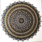 WEB Golden Sun Mandala by Jeannine Frazier Boone $150