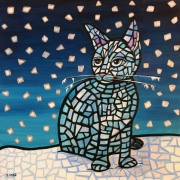 WEB Ice Cat by Elissa Adelson $100