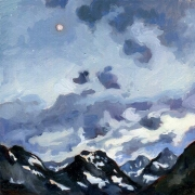 WEB Moonlit Mountains by Magdalena Nilges $225