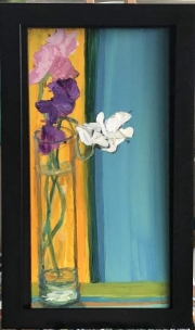 WEB Sweet Peas from the Garden by Melody Schneider $125