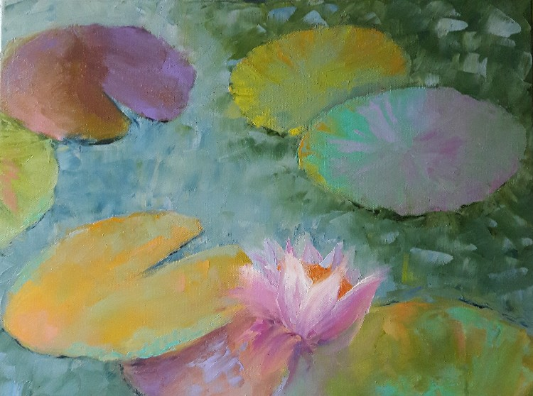 Lily Pad 4 by Leah Rene Welch, $295
