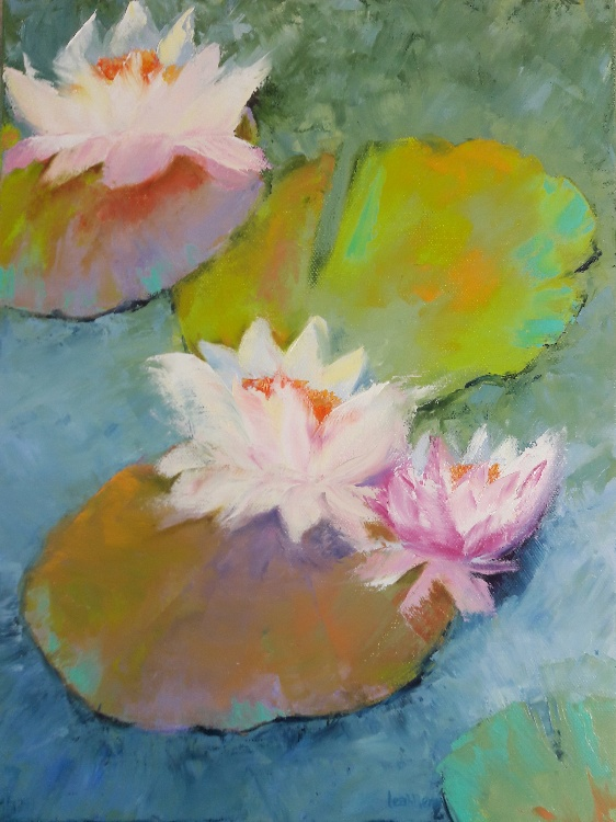 Lily Pads 4 by Leah Rene Welch, $295