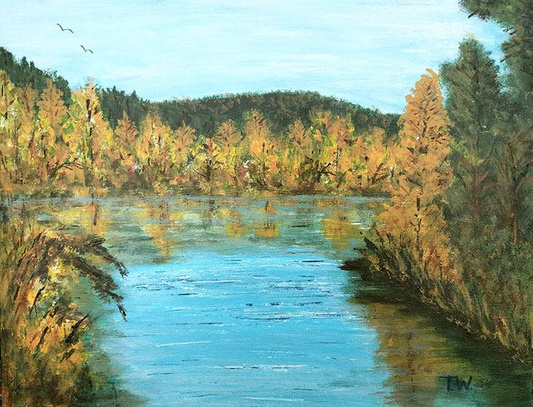 Autumn Reflections by Theresa Williams, $225