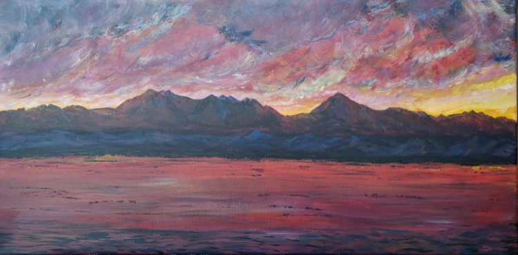 Storm Clouds at Sunset by Theresa Williams, $175