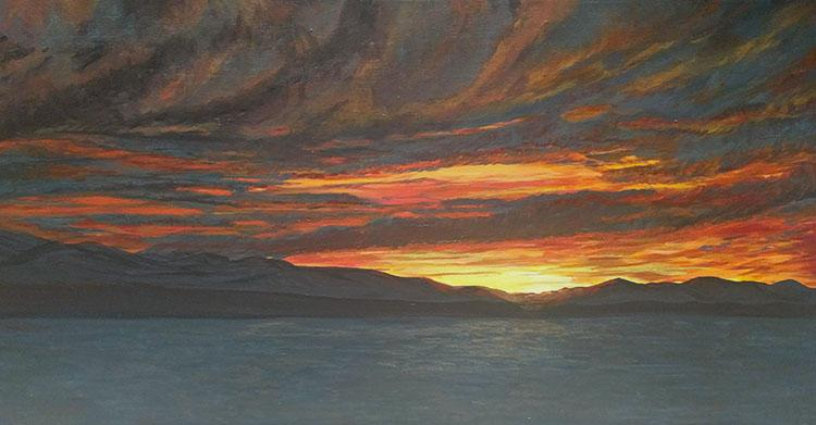 Sunset Before the Storm by Theresa Williams, $565